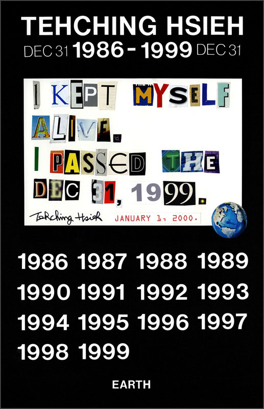 photo of letters cut out from magazines that reads, I kept myself alive passed the Dec. 31, 1999